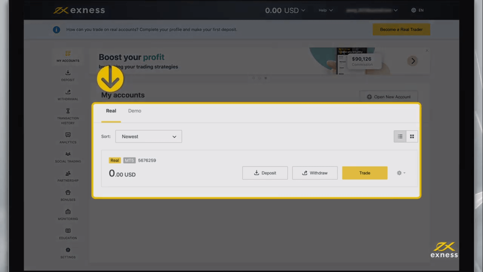How to Register and Open a Trading Account in Exness